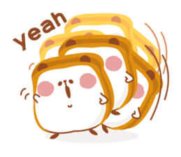 The panda of bread sticker #461625