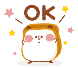 The panda of bread sticker #461635