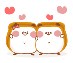 The panda of bread sticker #461638