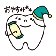 resident of mouth  [ TOOTH-san ] sticker #461696