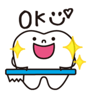 resident of mouth  [ TOOTH-san ] sticker #461699