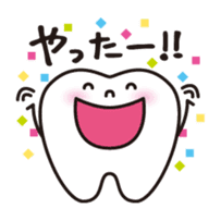 resident of mouth  [ TOOTH-san ] sticker #461701