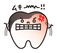 resident of mouth  [ TOOTH-san ] sticker #461712