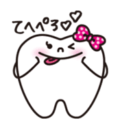 resident of mouth  [ TOOTH-san ] sticker #461717