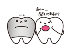 resident of mouth  [ TOOTH-san ] sticker #461724