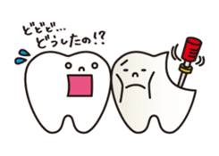 resident of mouth  [ TOOTH-san ] sticker #461727