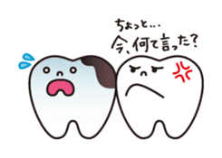 resident of mouth  [ TOOTH-san ] sticker #461729