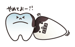 resident of mouth  [ TOOTH-san ] sticker #461730