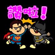 สติ๊กเกอร์ไลน์ DC Super Heroes vs Eagle Talon