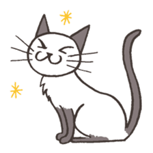 Bicke and his cat friends. sticker #461949