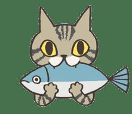 Bicke and his cat friends. sticker #461972