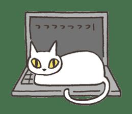 Bicke and his cat friends. sticker #461974