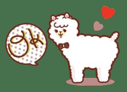A lovely alpaca sticker #461975