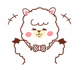 A lovely alpaca sticker #461997