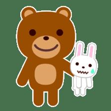 Don't eat me Mr. Bear ! sticker #463255