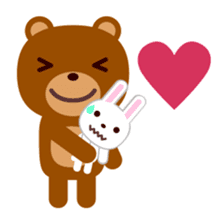 Don't eat me Mr. Bear ! sticker #463257