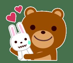 Don't eat me Mr. Bear ! sticker #463258
