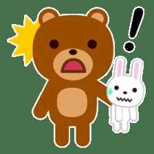 Don't eat me Mr. Bear ! sticker #463259