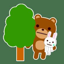 Don't eat me Mr. Bear ! sticker #463260