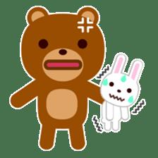 Don't eat me Mr. Bear ! sticker #463262