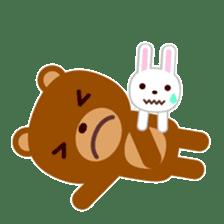 Don't eat me Mr. Bear ! sticker #463263