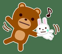 Don't eat me Mr. Bear ! sticker #463264