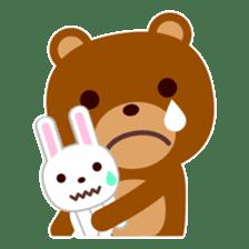 Don't eat me Mr. Bear ! sticker #463266