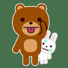 Don't eat me Mr. Bear ! sticker #463267