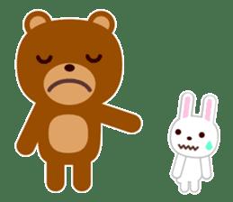 Don't eat me Mr. Bear ! sticker #463268