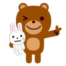 Don't eat me Mr. Bear ! sticker #463271