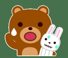 Don't eat me Mr. Bear ! sticker #463272