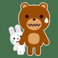 Don't eat me Mr. Bear ! sticker #463273