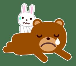 Don't eat me Mr. Bear ! sticker #463275