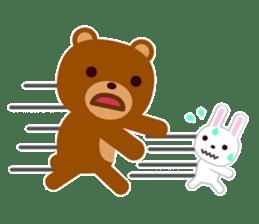 Don't eat me Mr. Bear ! sticker #463276