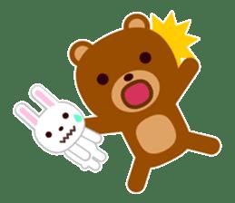 Don't eat me Mr. Bear ! sticker #463279