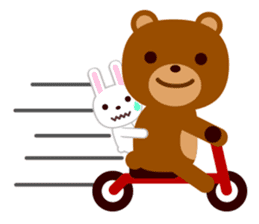 Don't eat me Mr. Bear ! sticker #463280