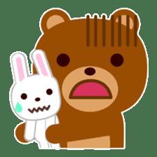 Don't eat me Mr. Bear ! sticker #463284