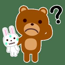 Don't eat me Mr. Bear ! sticker #463285