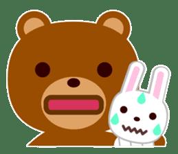 Don't eat me Mr. Bear ! sticker #463286