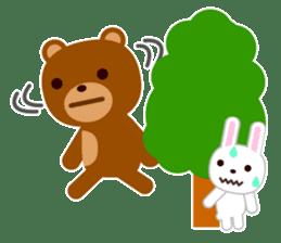 Don't eat me Mr. Bear ! sticker #463288