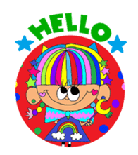 """""""Renbow"""" colorful stamps sticker #463935"""