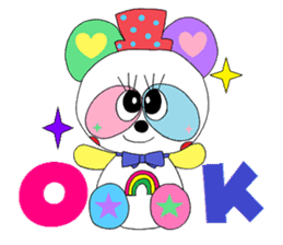 """""""Renbow"""" colorful stamps sticker #463938"""