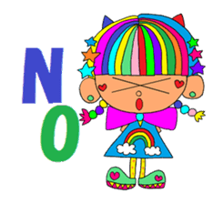"""""""Renbow"""" colorful stamps sticker #463946"""