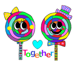 """""""Renbow"""" colorful stamps sticker #463964"""
