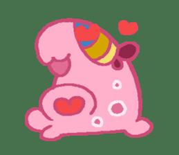 Pink Amoeba Stamp sticker #464028