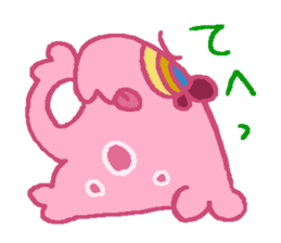 Pink Amoeba Stamp sticker #464029