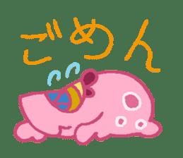 Pink Amoeba Stamp sticker #464036