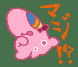 Pink Amoeba Stamp sticker #464049
