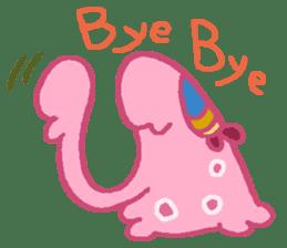 Pink Amoeba Stamp sticker #464054