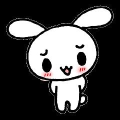 a timid rabbit